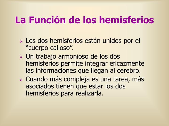 La Función de los hemisferios
