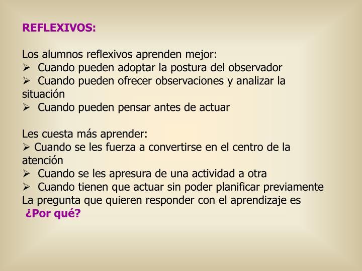 REFLEXIVOS: