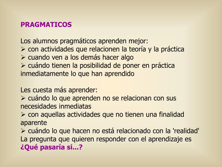 PRAGMATICOS
