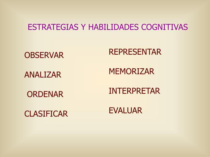 ESTRATEGIAS Y HABILIDADES COGNITIVAS