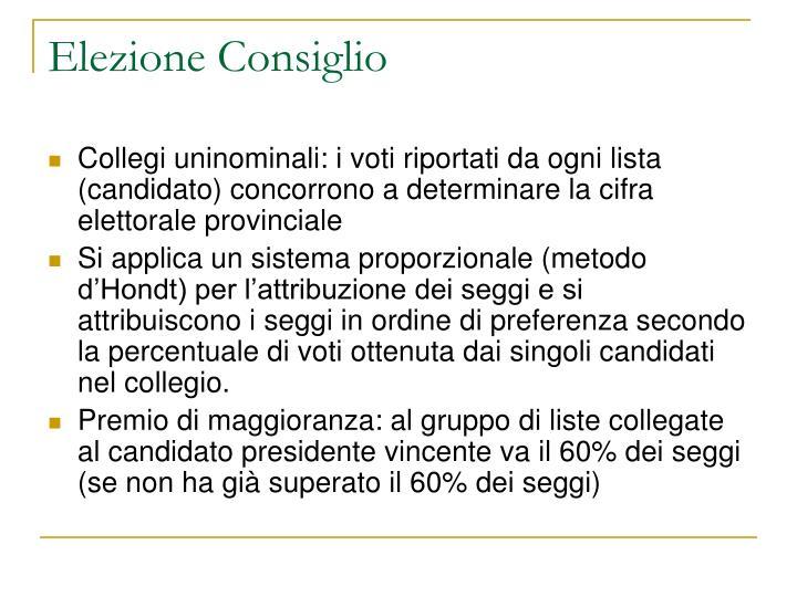 Elezione Consiglio