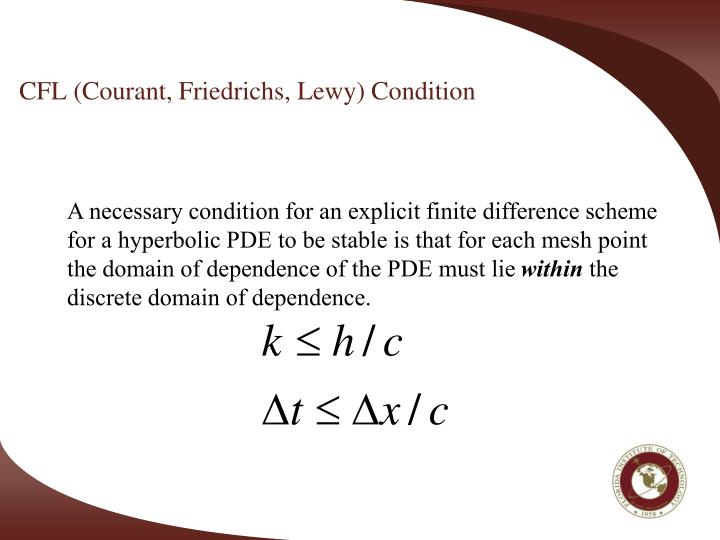 CFL (Courant, Friedrichs, Lewy) Condition