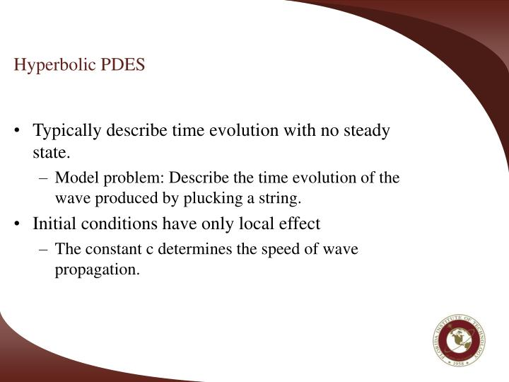Hyperbolic PDES