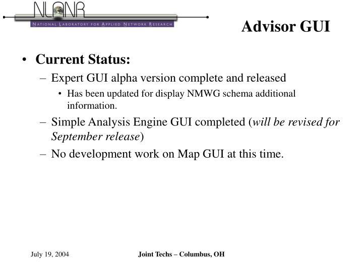 Advisor GUI