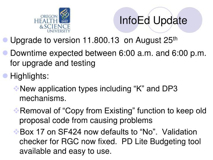 InfoEd Update