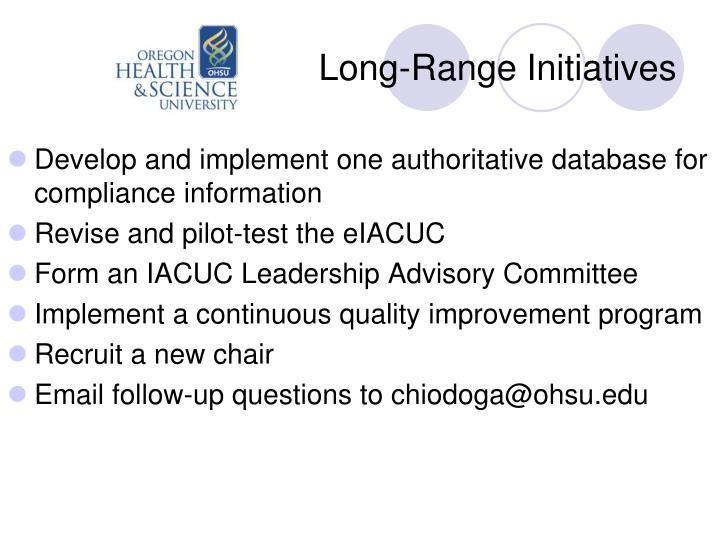 Long-Range Initiatives