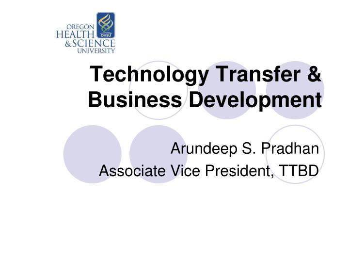 Technology Transfer & Business Development