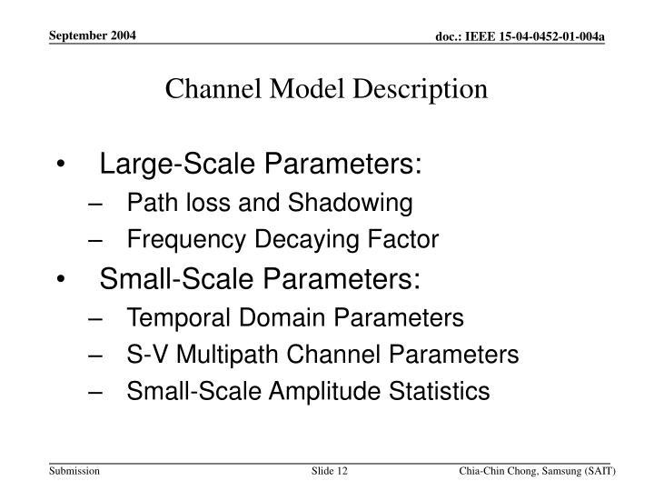 Channel Model Description