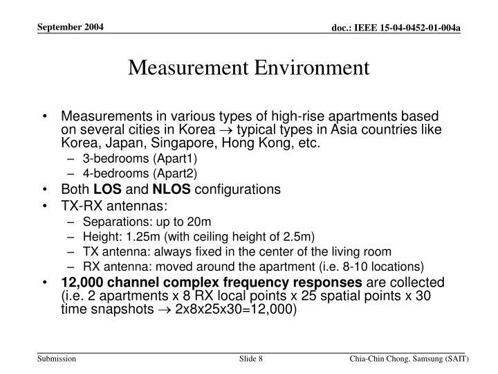 Measurement Environment