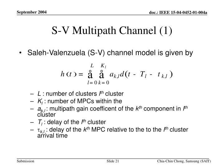 S-V Multipath Channel (1)