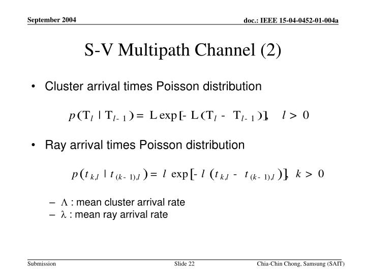 S-V Multipath Channel (2)