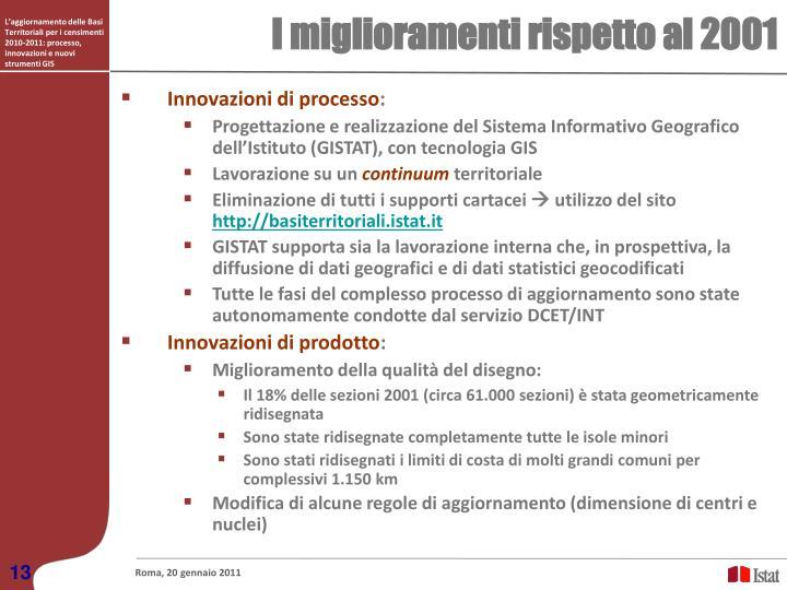L'aggiornamento delle Basi Territoriali per i censimenti 2010-2011: processo, innovazioni e nuovi strumenti GIS