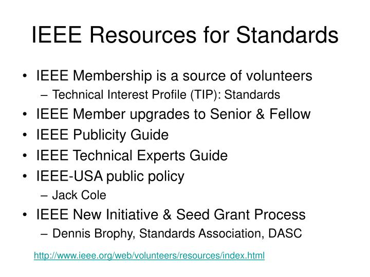 IEEE Resources for Standards