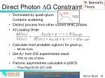 direct photon g constraint