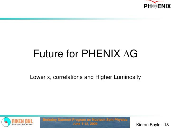 Future for PHENIX