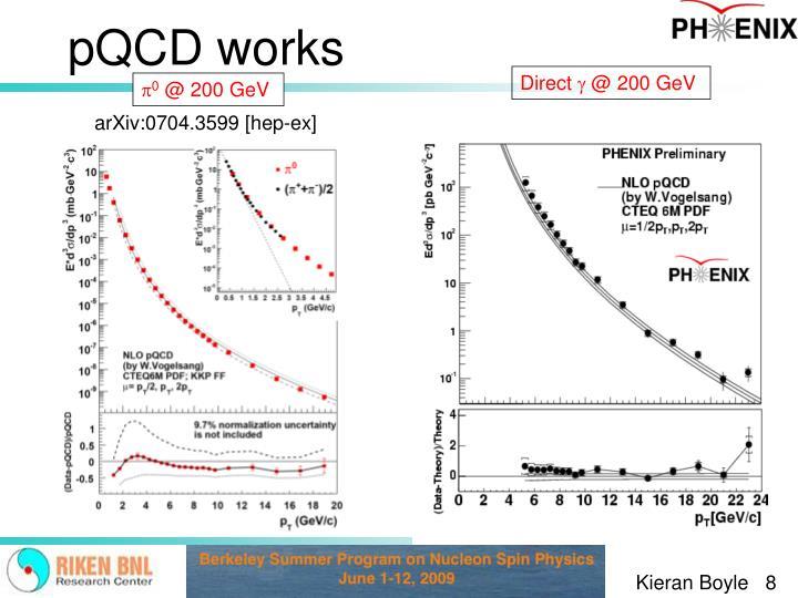 pQCD works