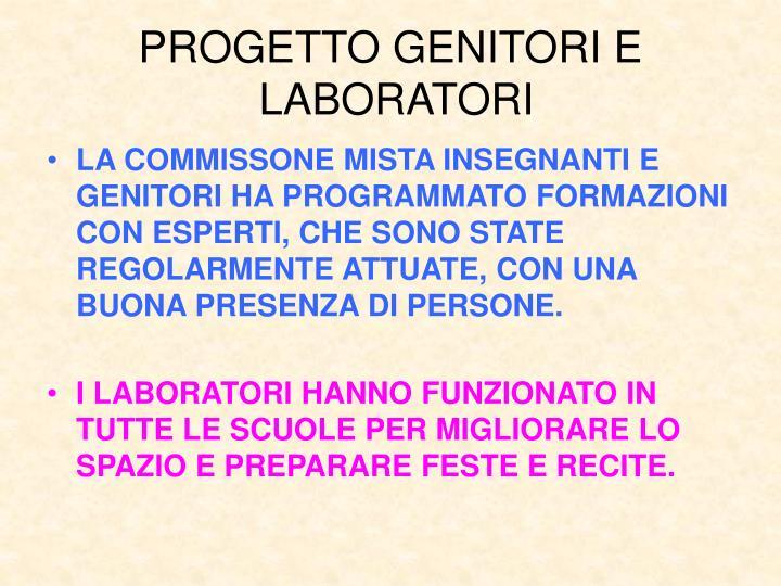 PROGETTO GENITORI E