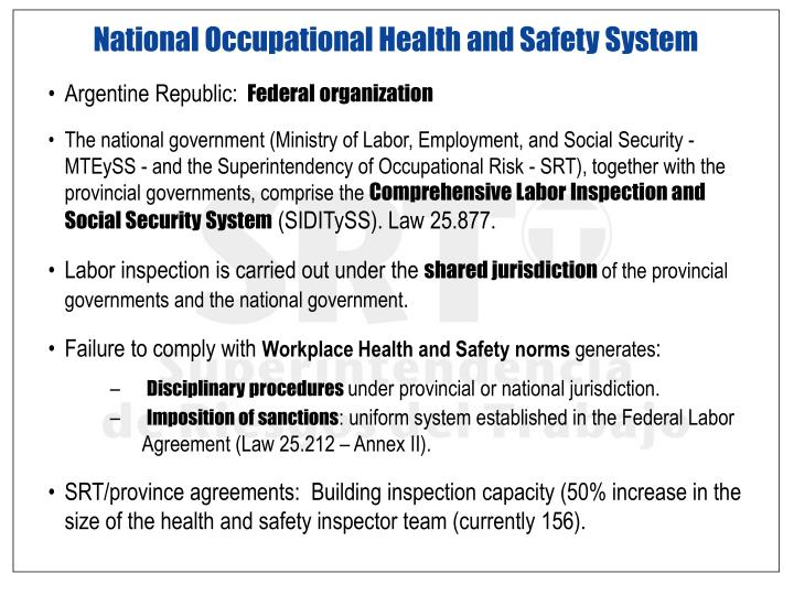 National Occupational Health and Safety System