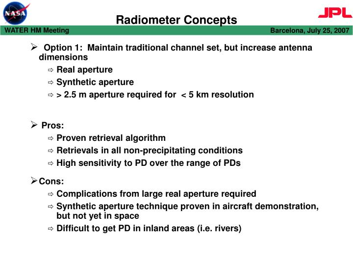 Radiometer Concepts