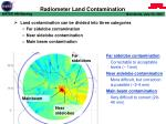 radiometer land contamination