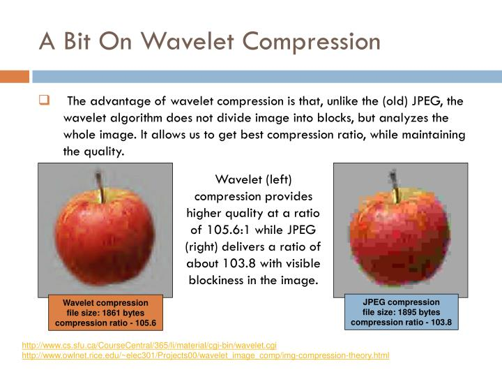 A Bit On Wavelet Compression