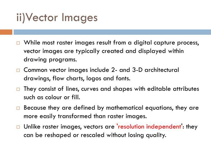 ii)Vector Images