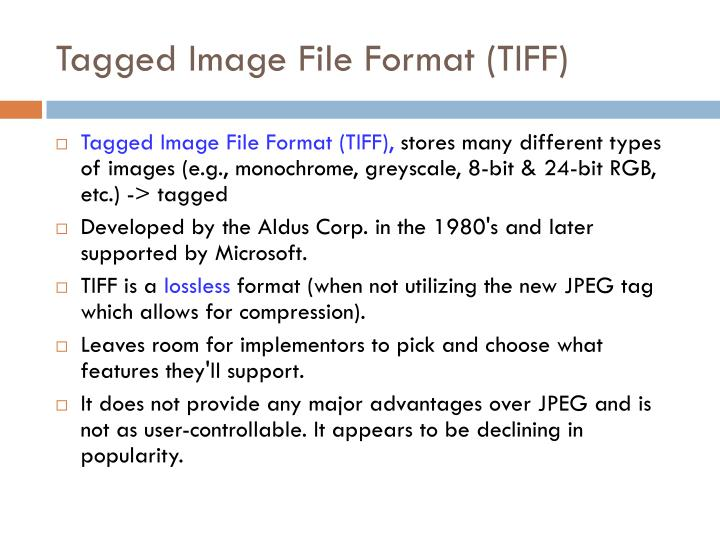 Tagged Image File Format (TIFF)
