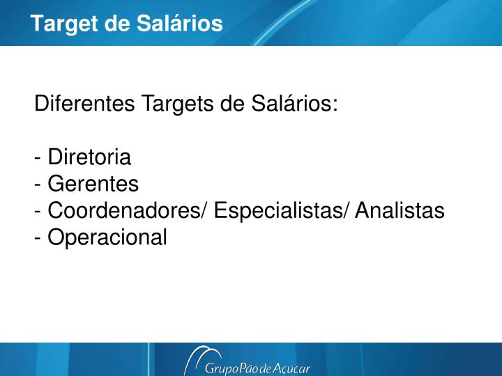 Target de Salários
