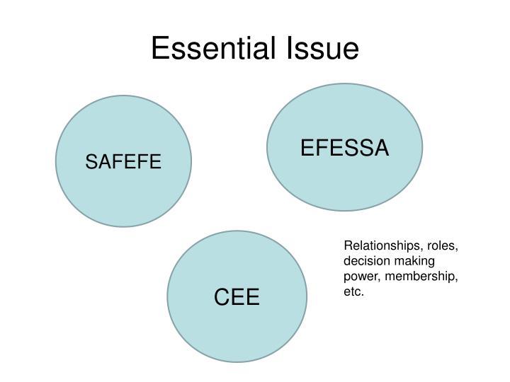 Essential Issue