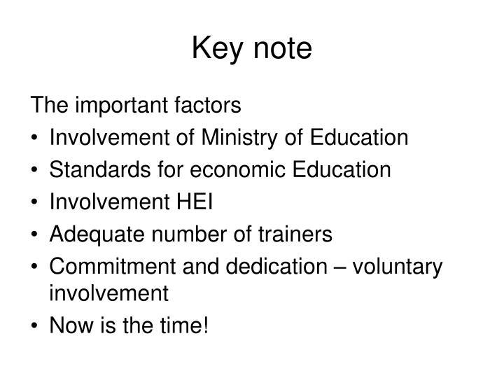 Key note