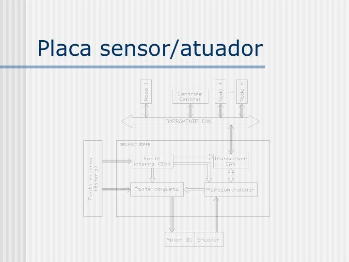 Placa sensor/atuador