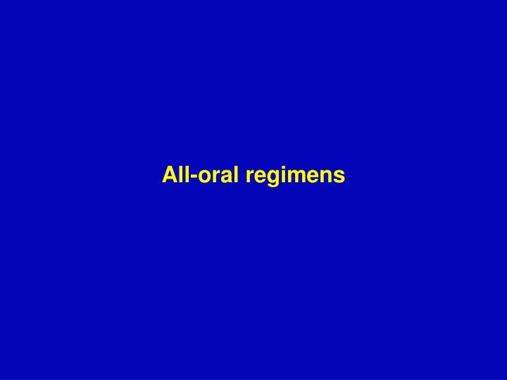 All-oral regimens