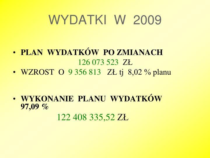 WYDATKI  W  2009
