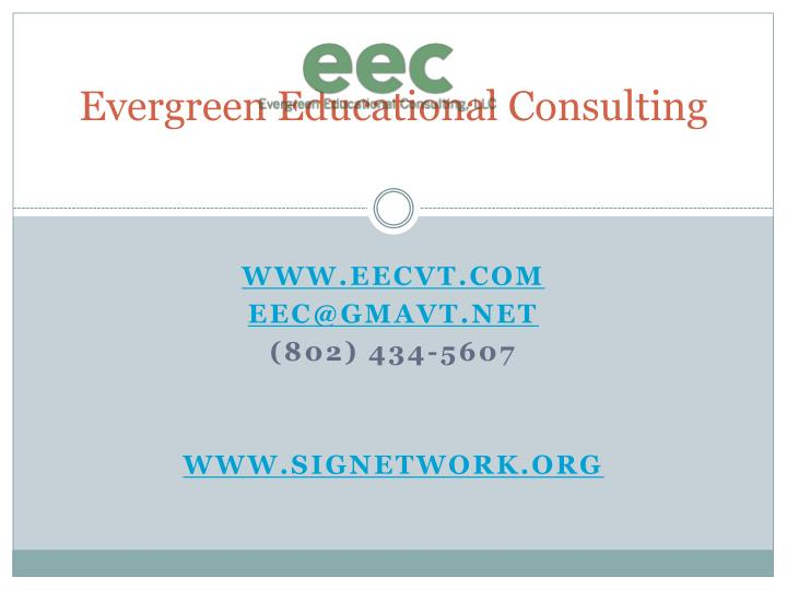 Evergreen Educational Consulting