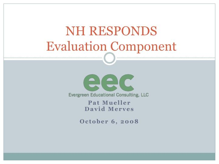 Nh responds evaluation component