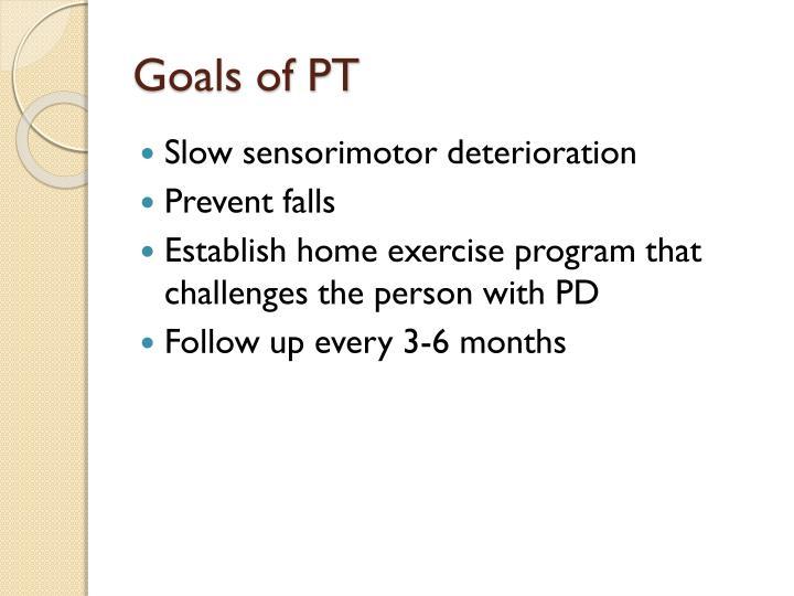 Goals of PT