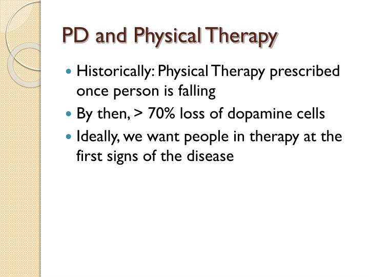 PD and Physical Therapy