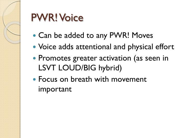 PWR! Voice