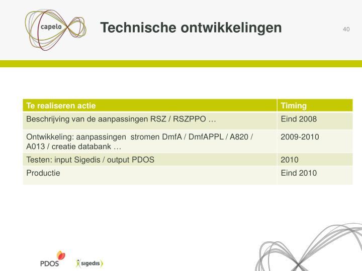Technische ontwikkelingen