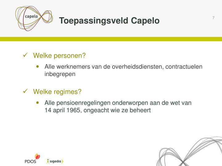 Toepassingsveld Capelo