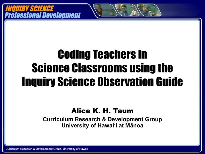 Coding Teachers in