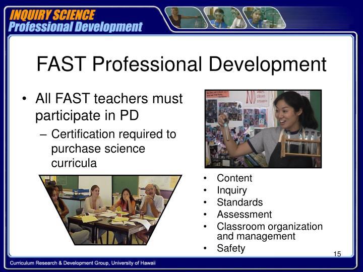 FAST Professional Development