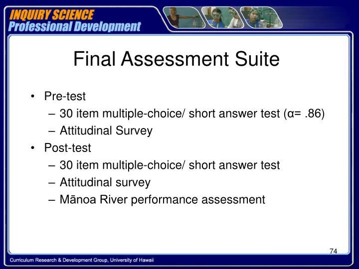 Final Assessment Suite