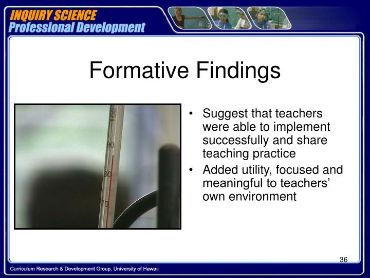 Formative Findings