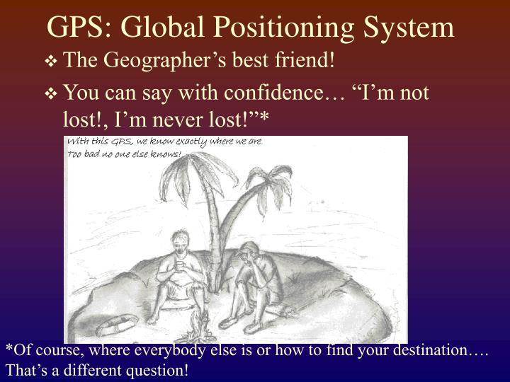 Gps global positioning system