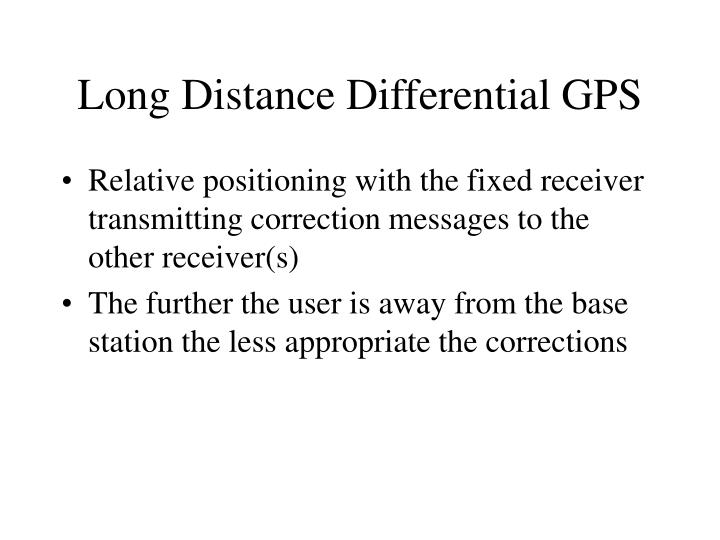 Long Distance Differential GPS
