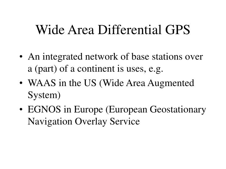 Wide Area Differential GPS