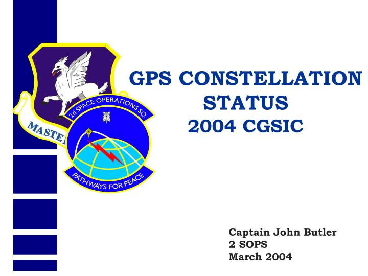 GPS CONSTELLATION STATUS