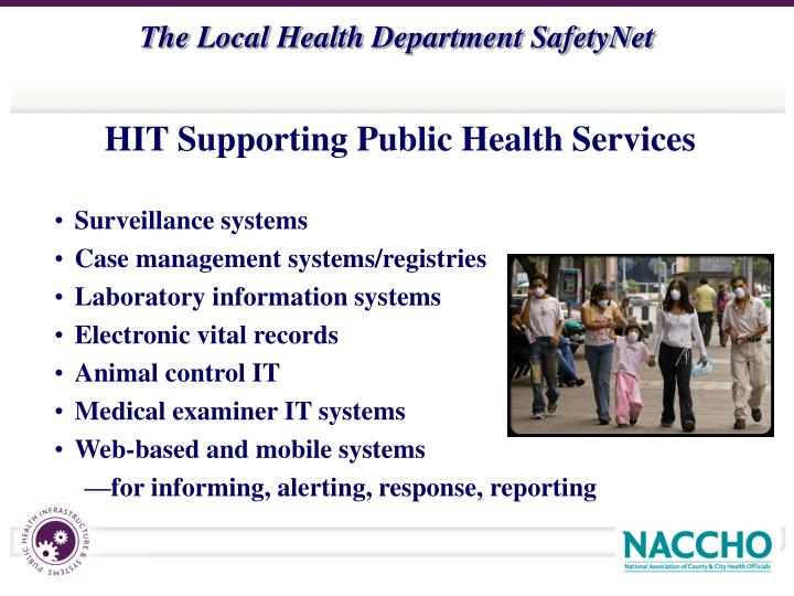 HIT Supporting Public Health Services