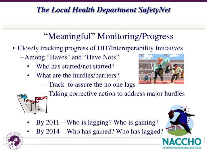 Closely tracking progress of HIT/Interoperability Initiatives